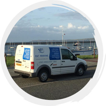 A&T Marine Engineering van in Anglesey
